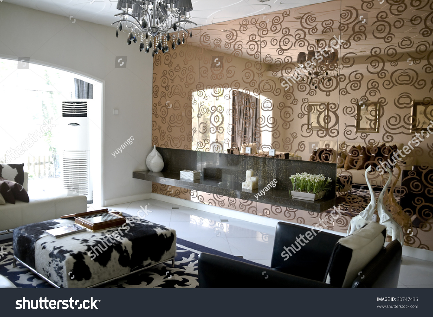 Luxury Modern Living Room With Mirror Wall Stock Photo 30747436 Shutterstock Part 56