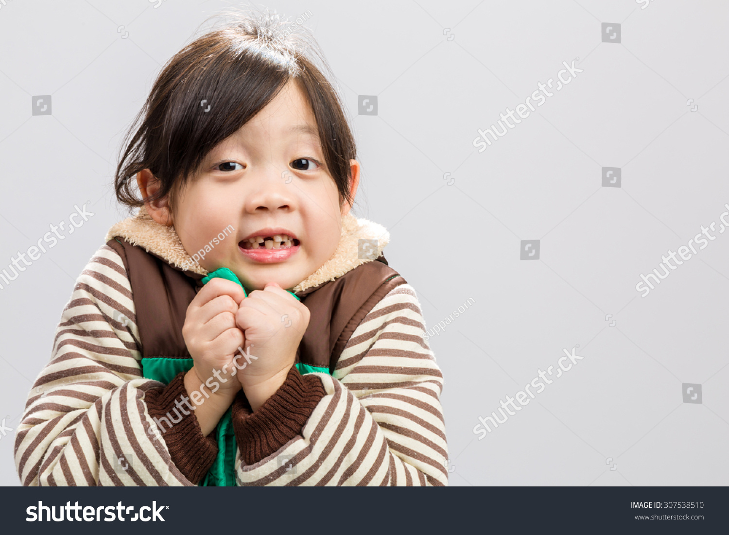 Child Shivering Stock Photo 307538510 : Shutterstock