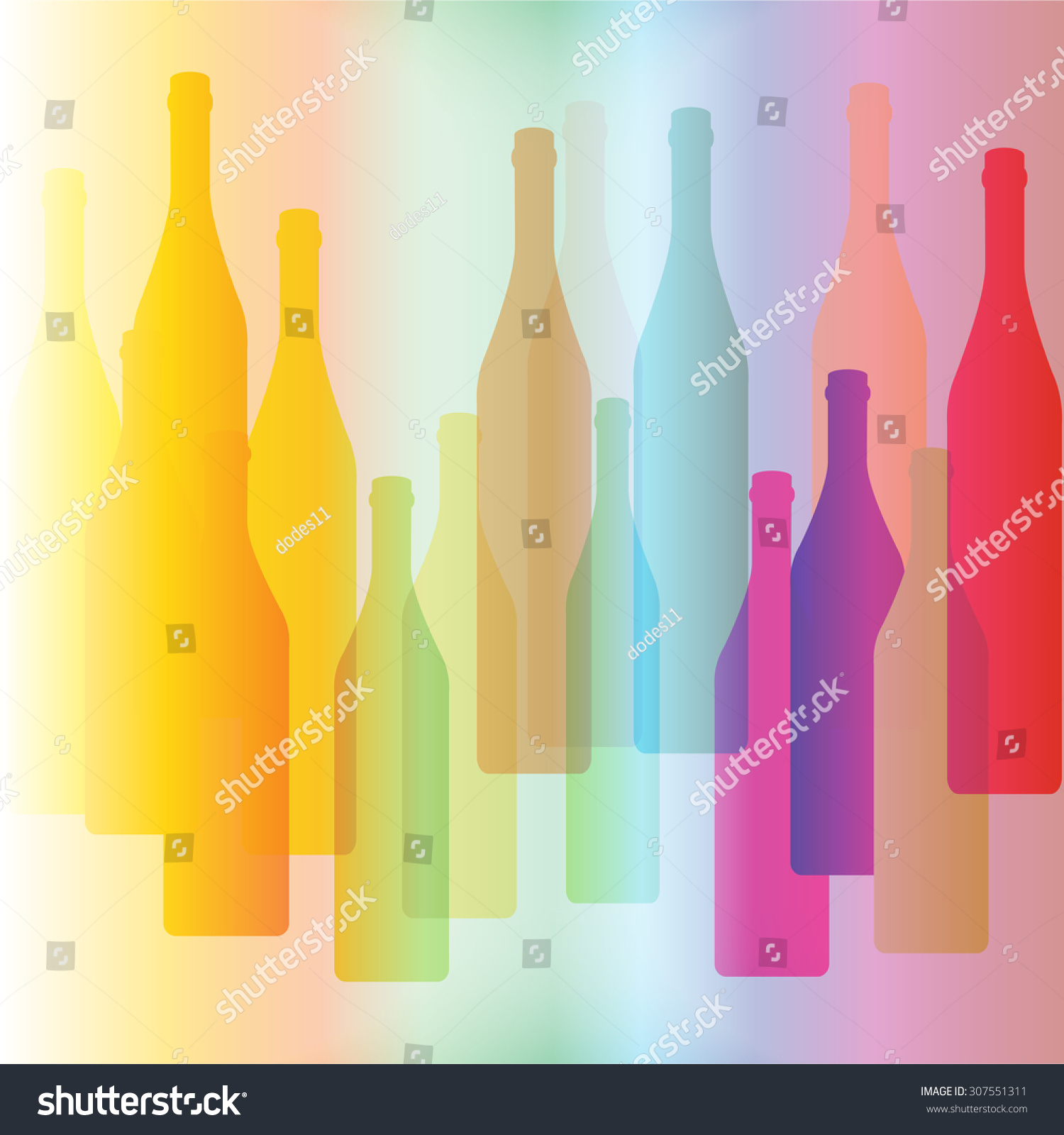 colorful bottle on background alcoholic bar menu stock vector