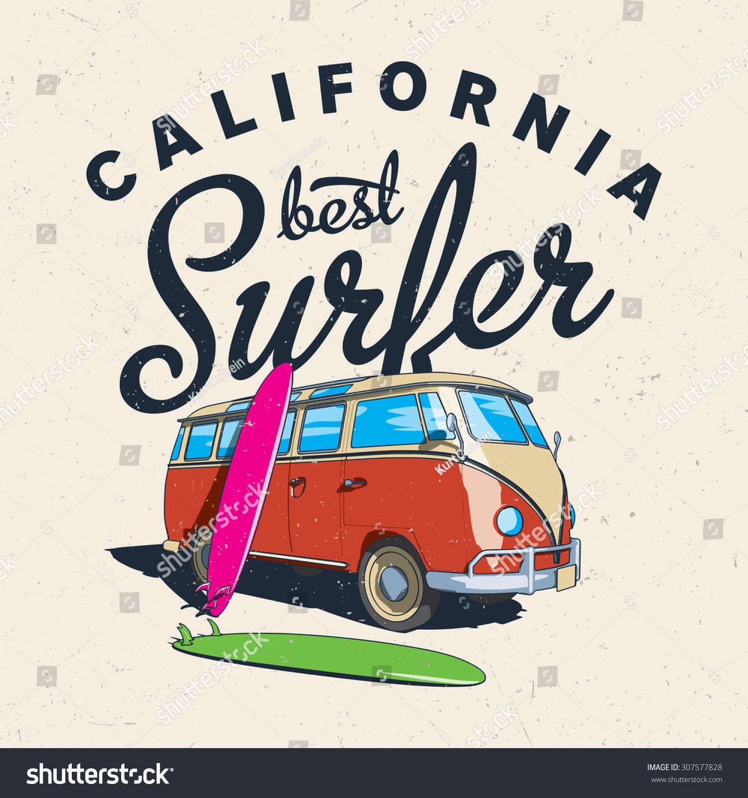 The Best Surfing In California Label Design For Posters, T
