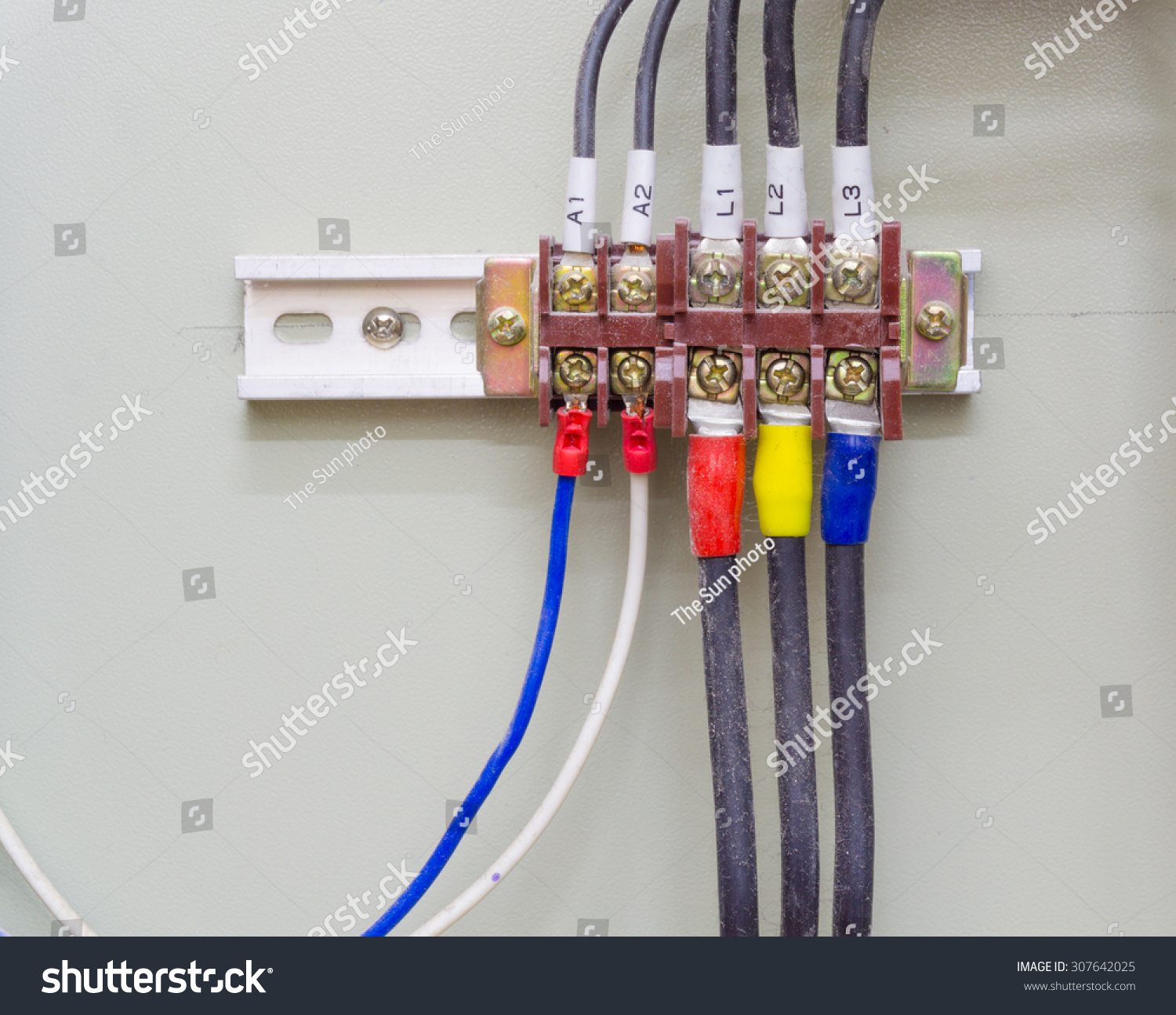 Connection Point Electrical System Building Dust Stock Photo ...