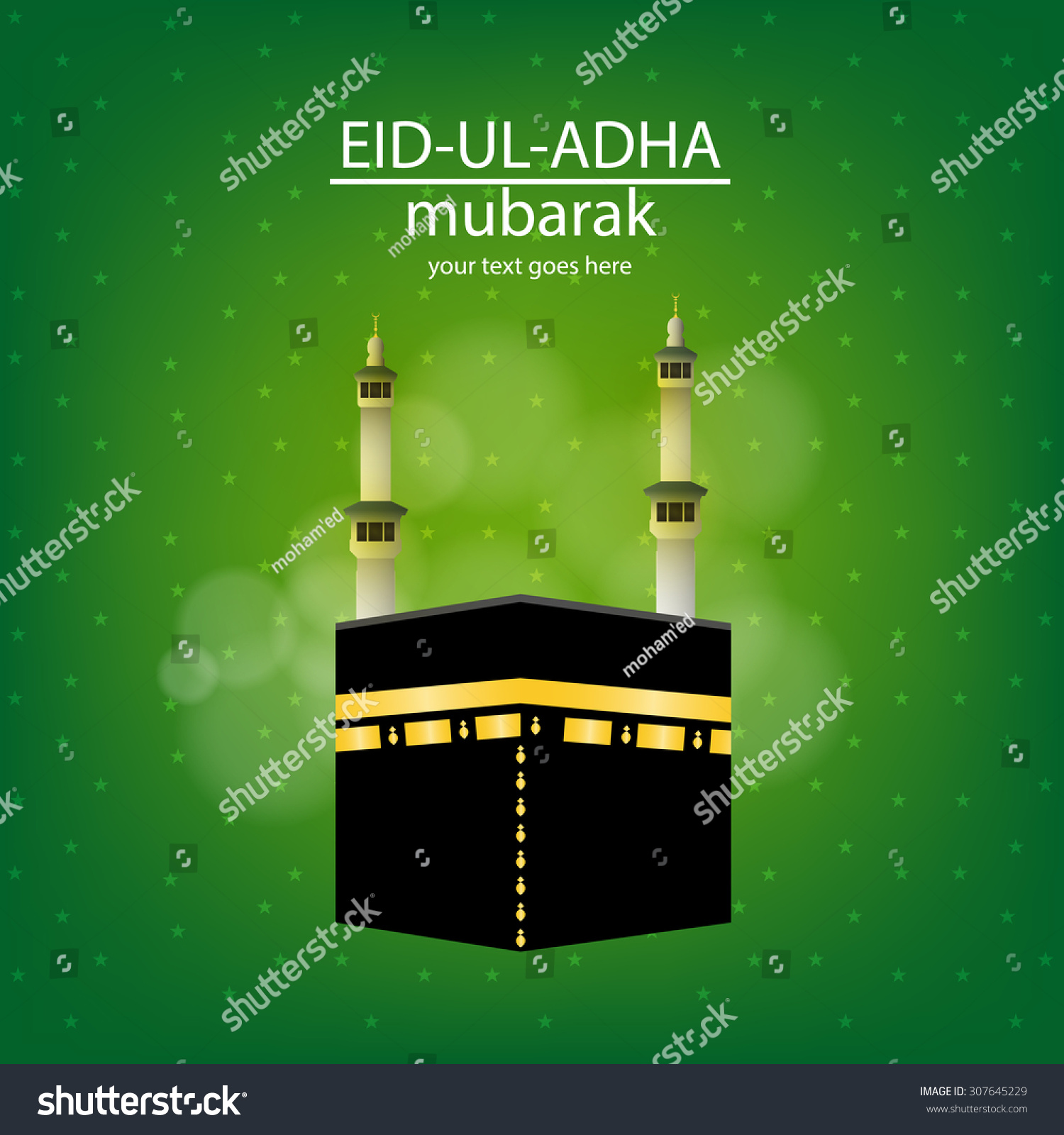 Eiduladha Mubarak On Vector Eid Greeting Stock Vector Royalty Free