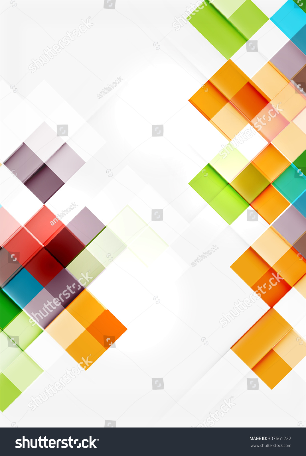 Square shape mosaic pattern design universal stock for Tile layout app