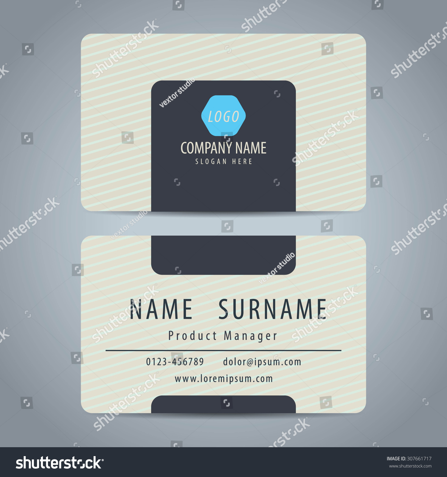 Clean Simple Modern Business Card Template Stock Vector (2018 ...
