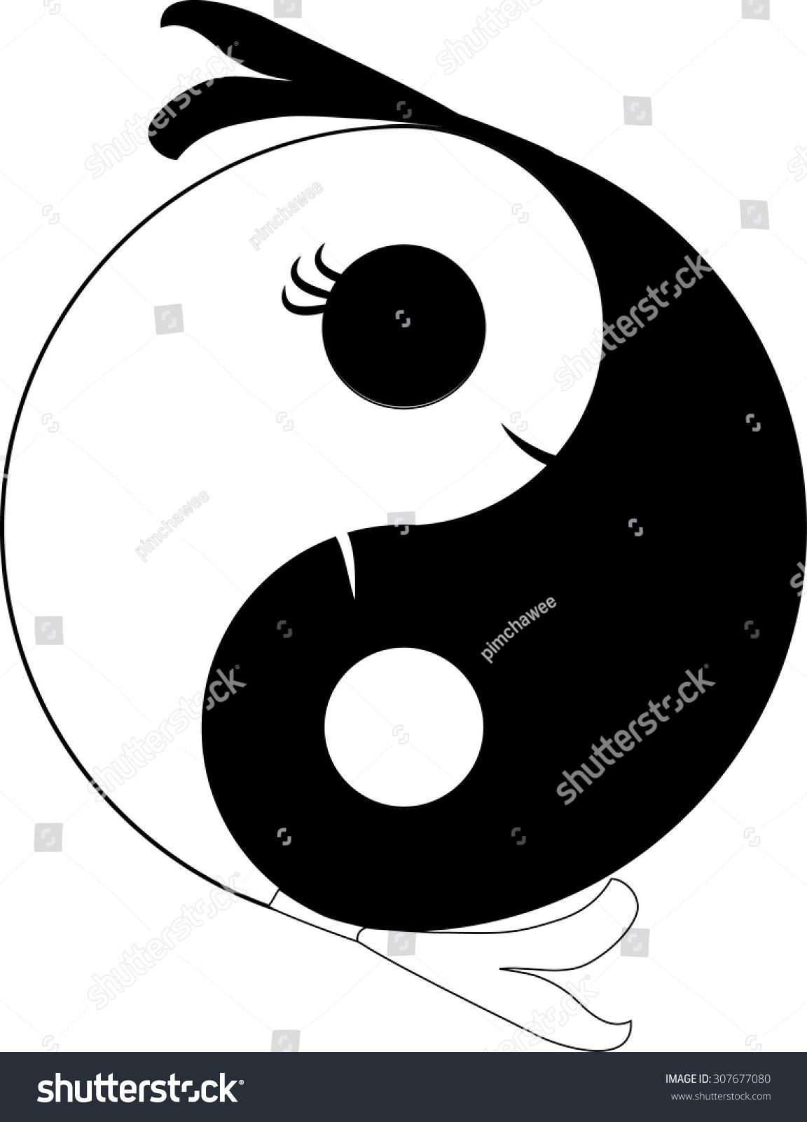 Yin yang symbol harmony balance chinese stock vector 307677080 yin yang symbol of harmony and balance chinese pair of fish in yin yang circle buycottarizona Gallery