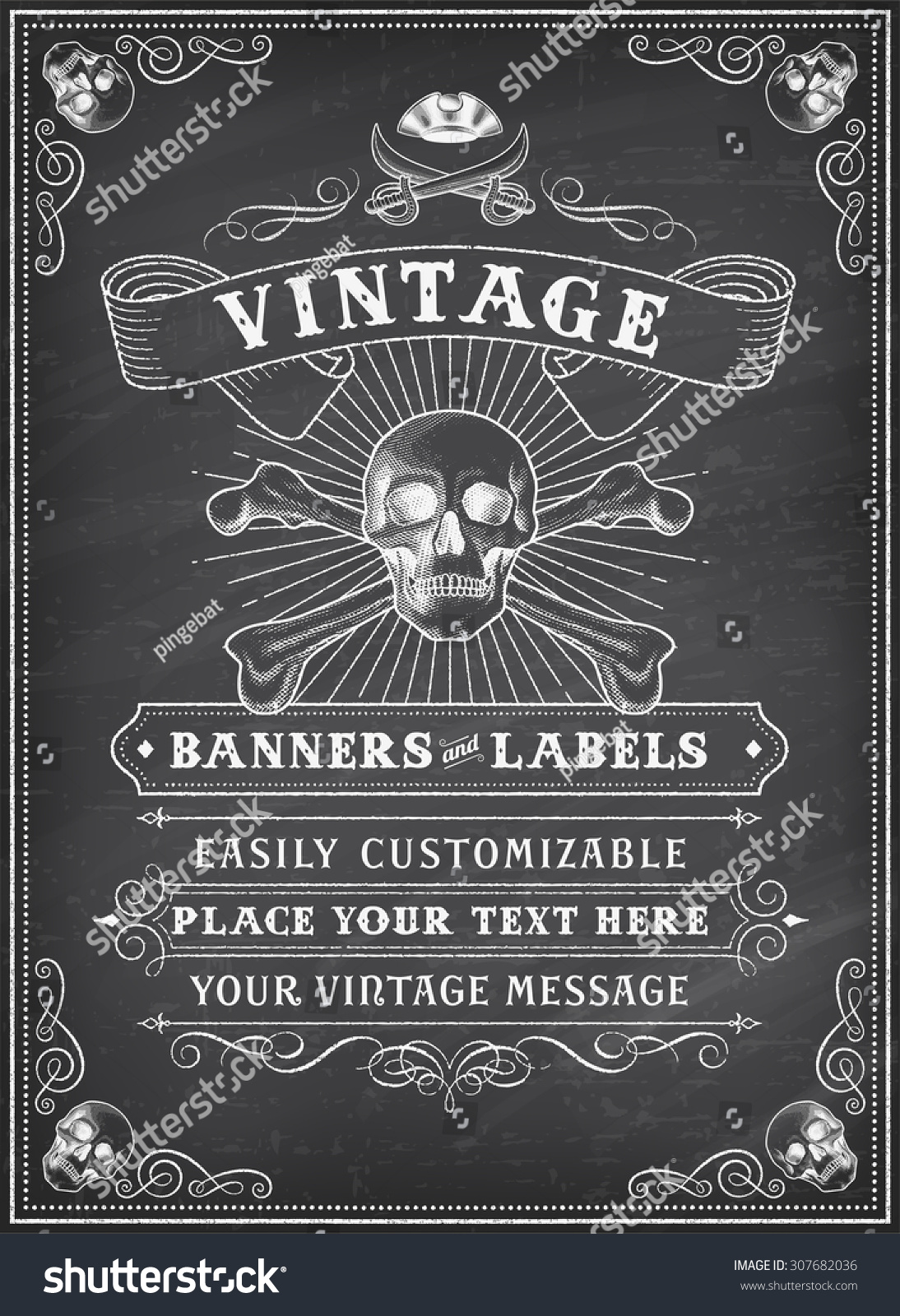 Vintage Looking Invite Template Party Event Stock Vector (2018 ...