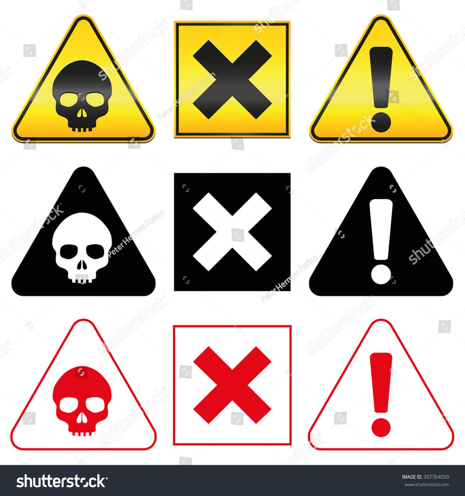 Red Hazard Symbol