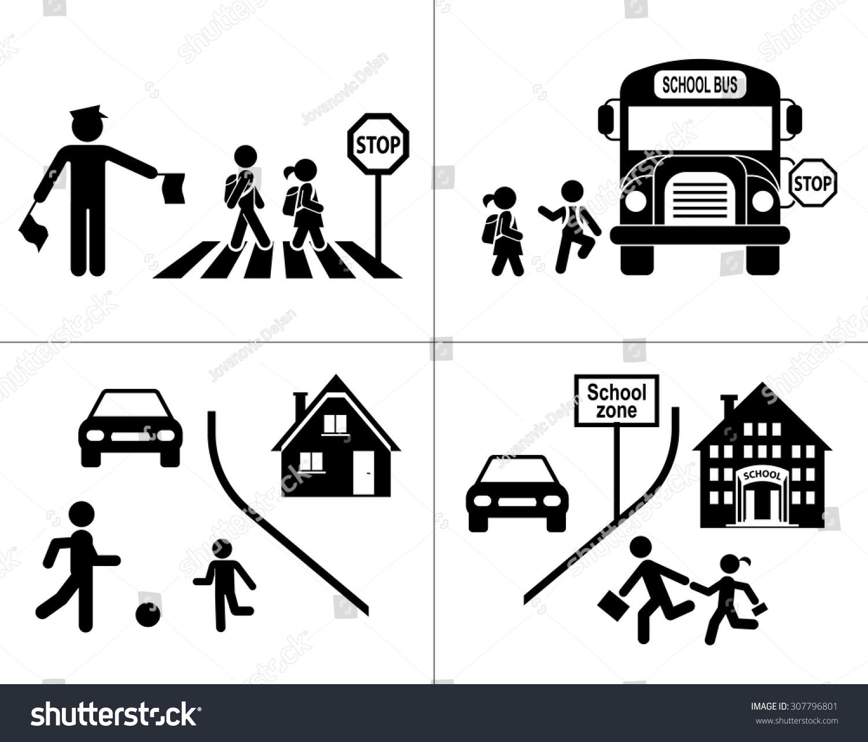 Royalty free Safety of children in traffic Children…
