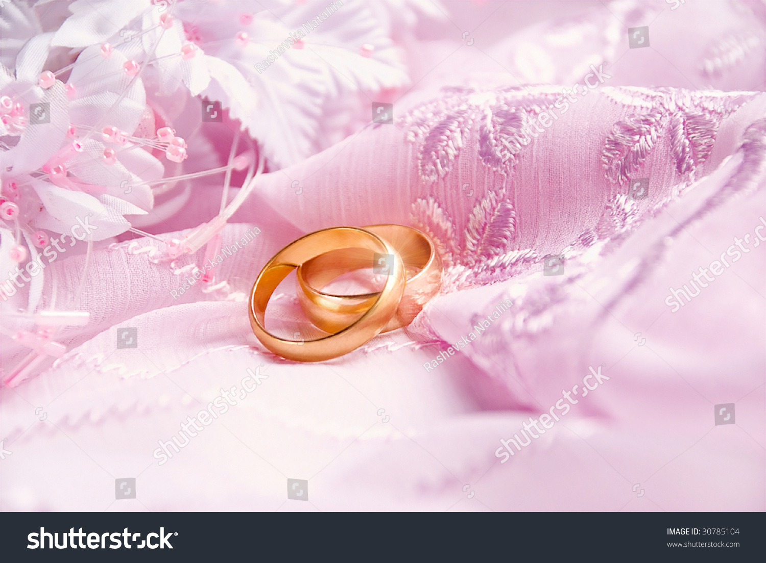 Wedding Background Pink Decoration Accessories Artificial Stock ...