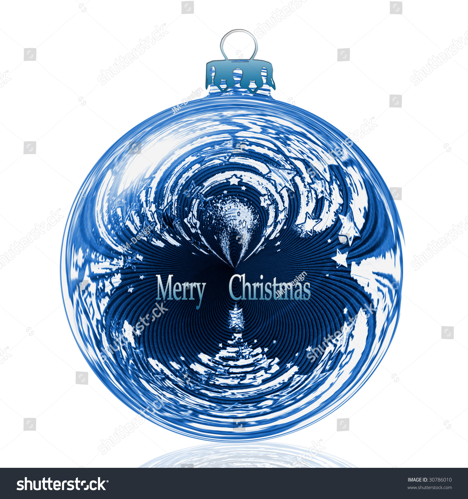 Blue Christmas Baubles Stock Photo 30786010 Shutterstock