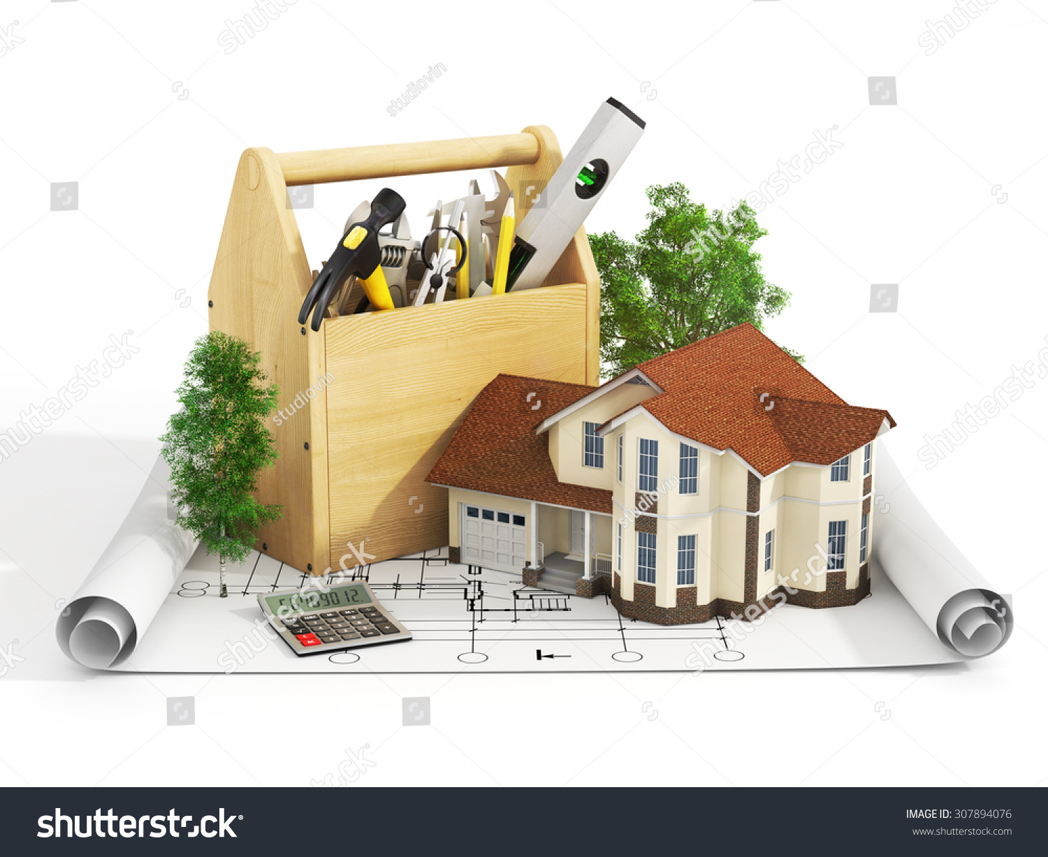 Concept Repair Building House Repair Construction Stock Illustration 307894076 Shutterstock