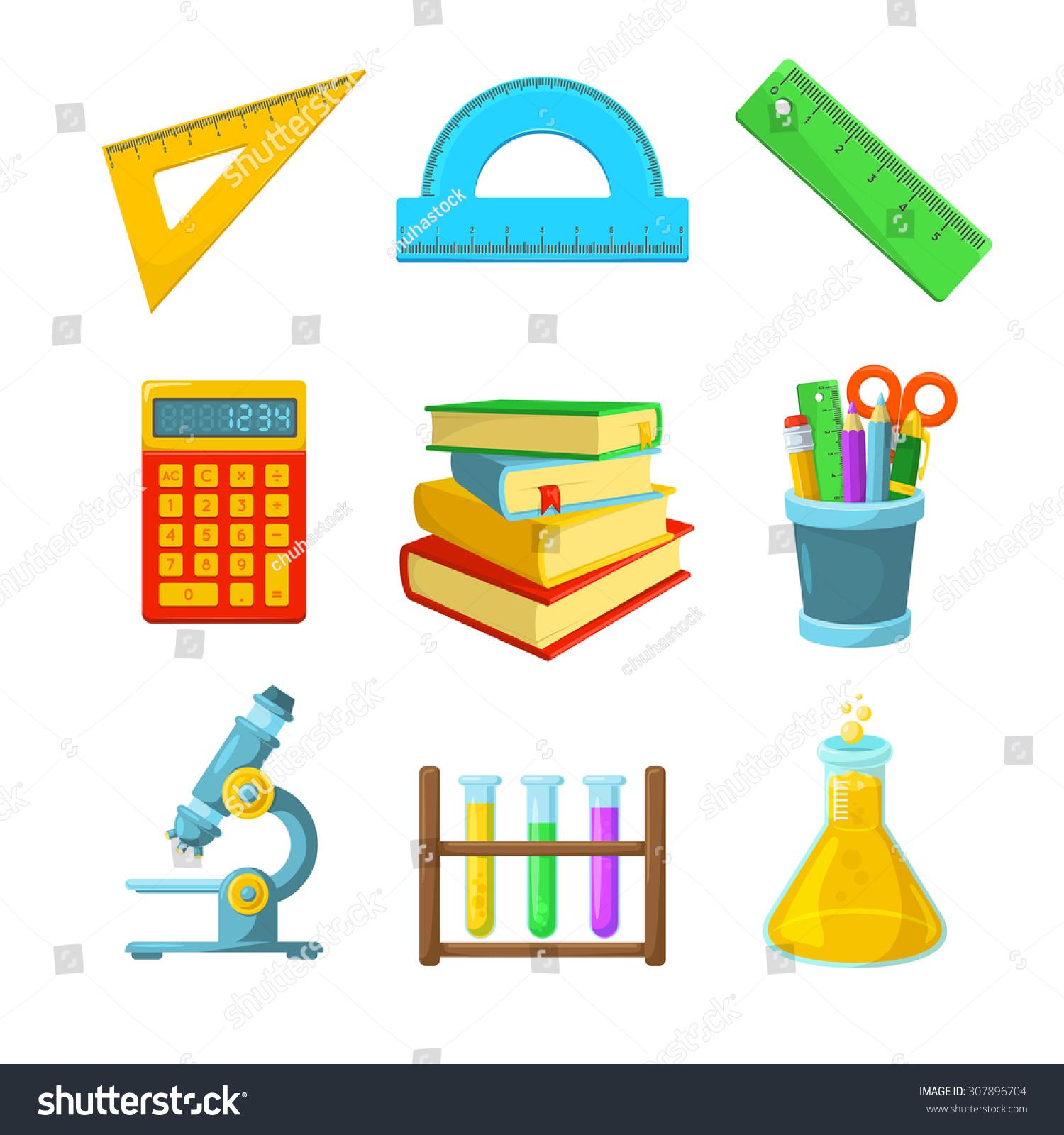 Classroom Design Elements ~ Study symbols various classroom items school year