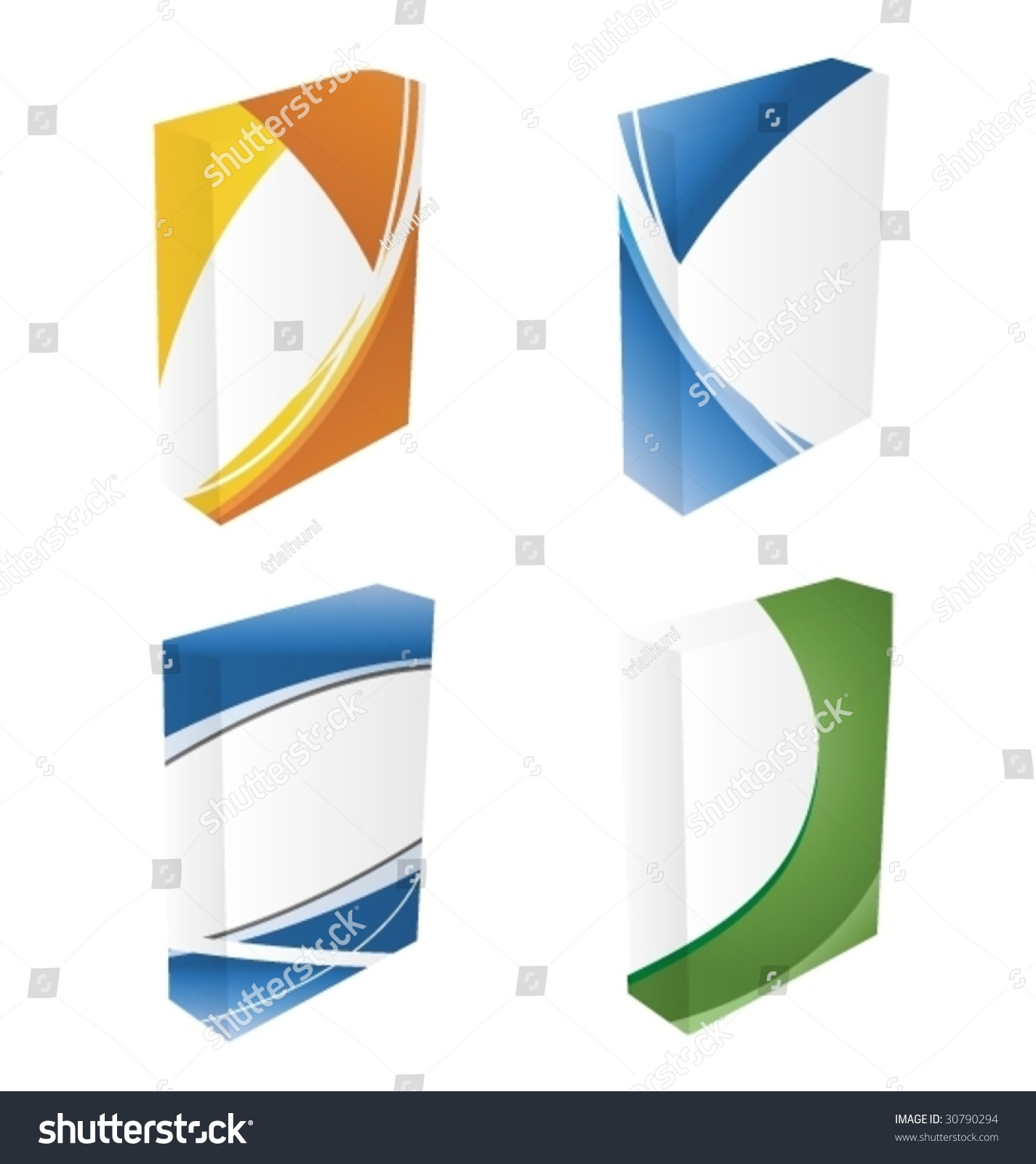 3d Wavy Software Boxes Vector 30790294 Shutterstock: vector image software