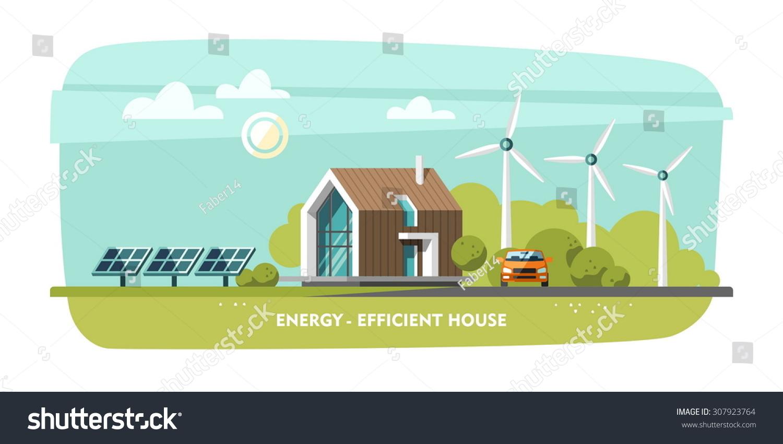 Energy Efficient House, Passive House, Eco House, Green Energy, Ecology.
