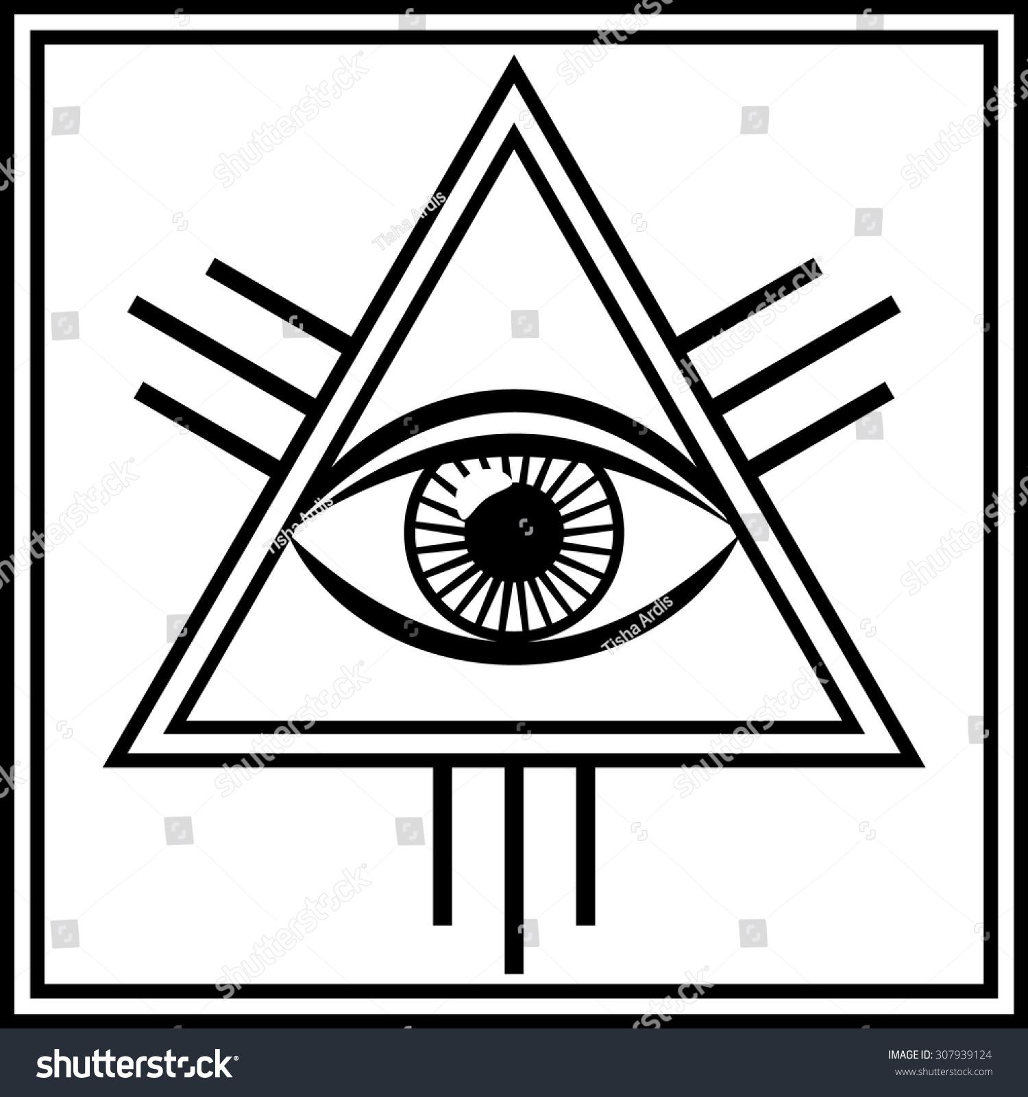 Vector Illustration Third Eye Mystical Sign Stock Vector ...