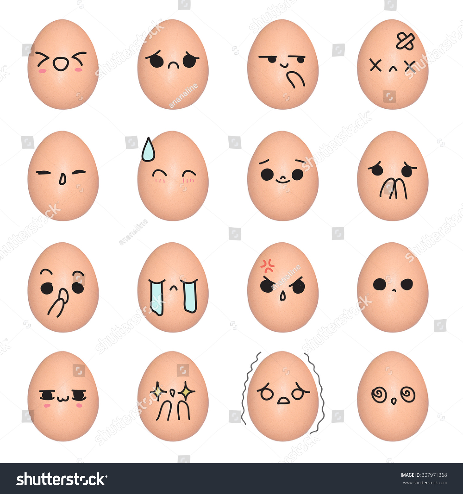 Stock Photo Egg Emoticon