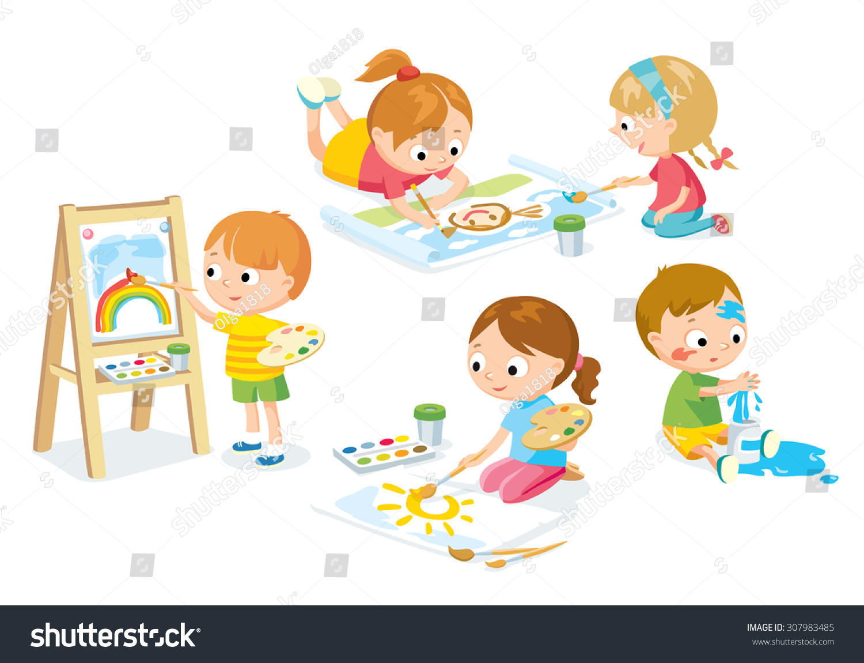 children drawing stock vector 307983485 shutterstock