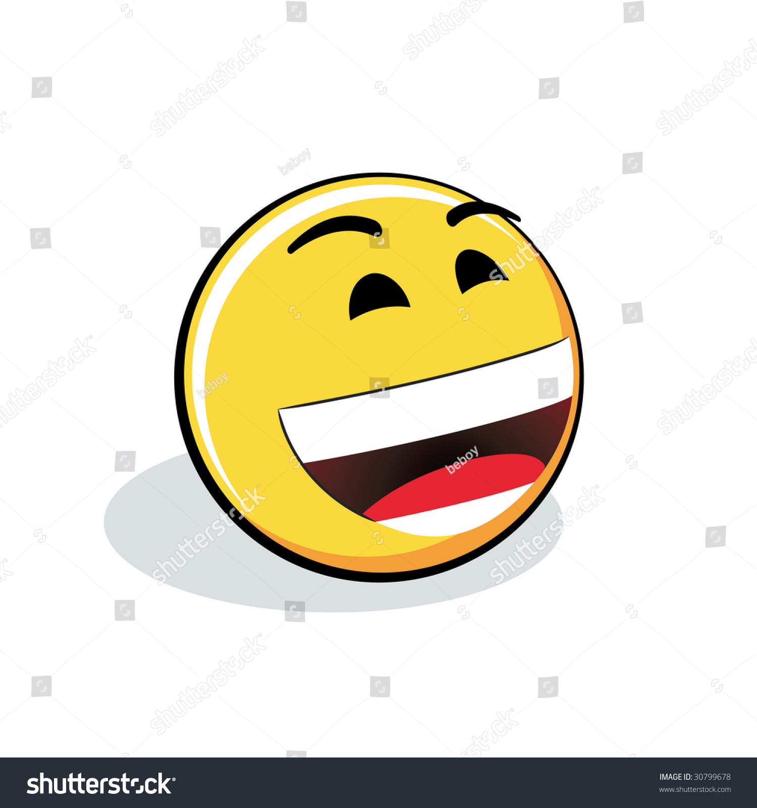 I Agree Smiley Smiley Stock Vector 30...