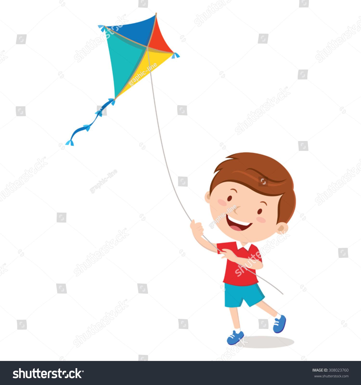 flying kite illustration - photo #7