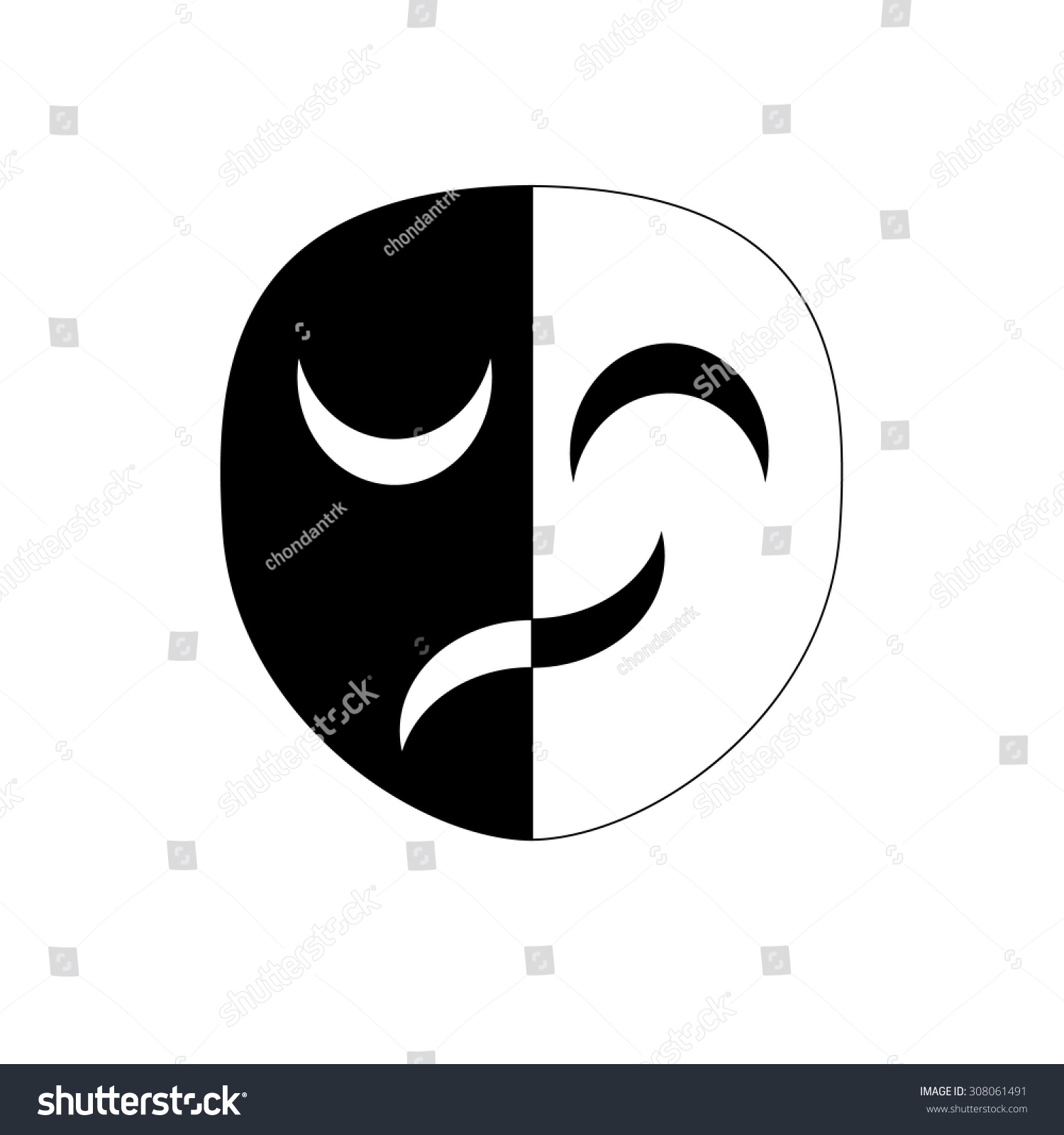 Masks Different Emotions Symbol Stock Vector Royalty Free
