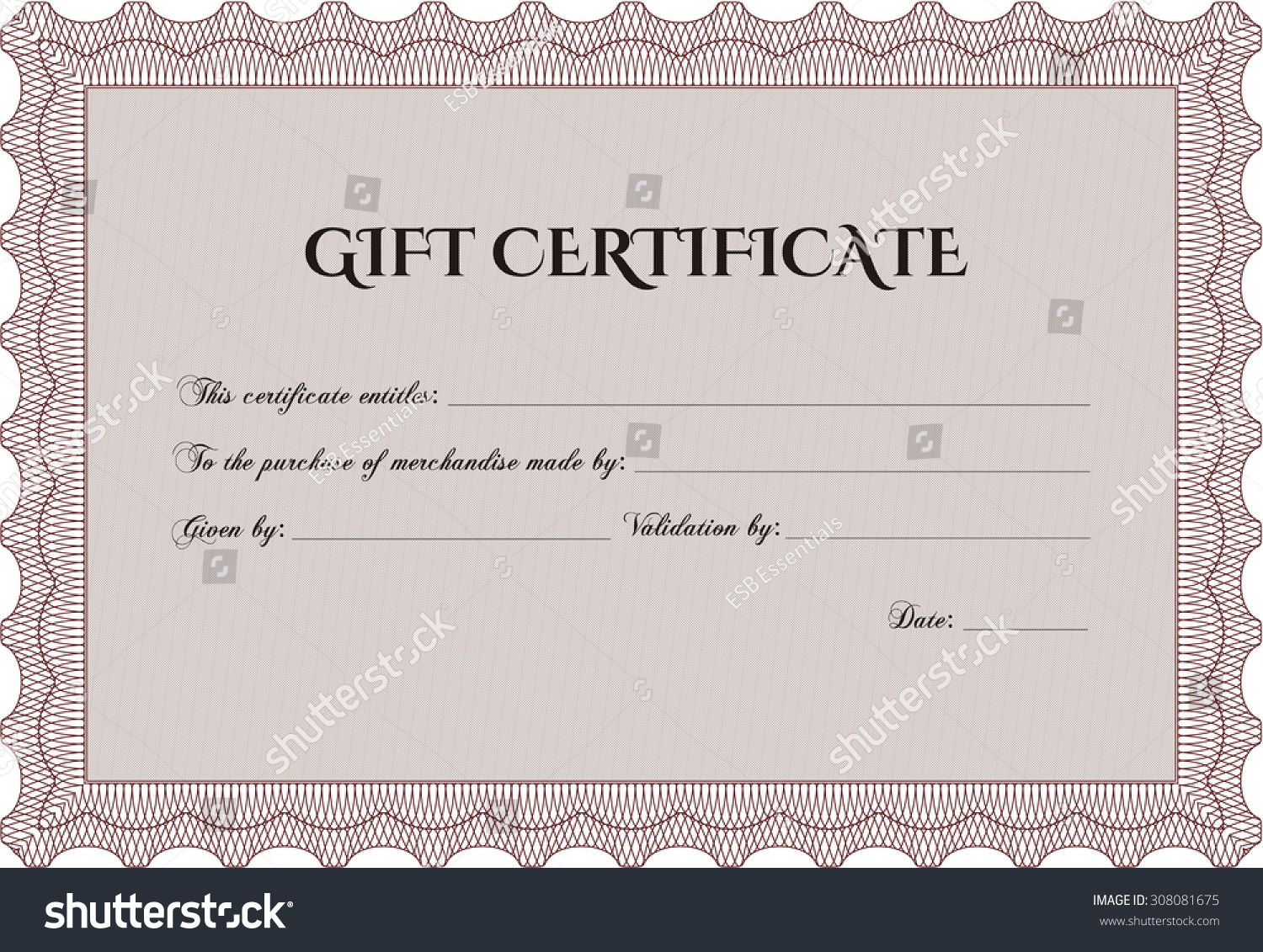 Old Fashioned Beauty Gift Certificate Template Model - Resume ...