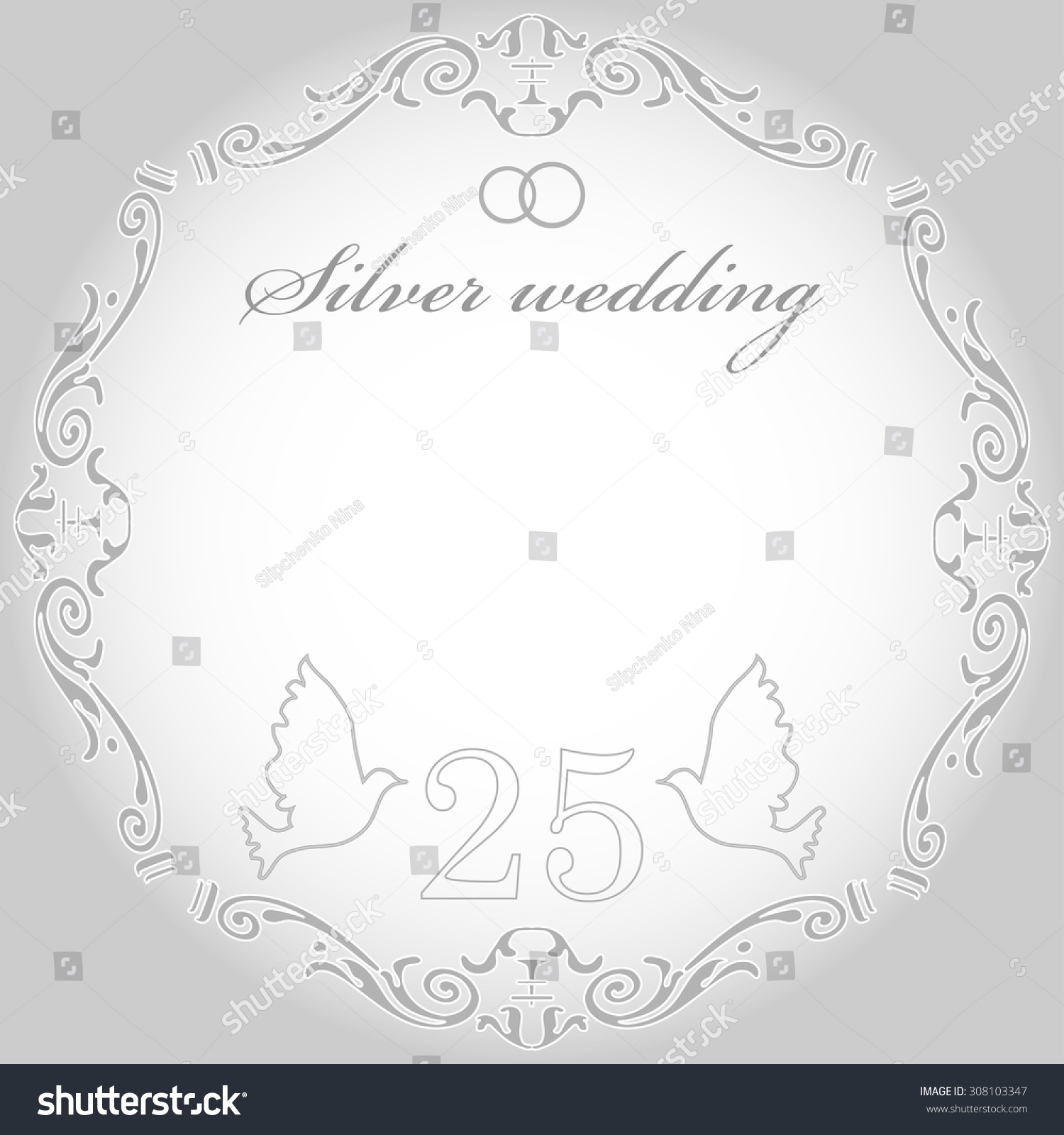 25th Wedding Anniversary Background