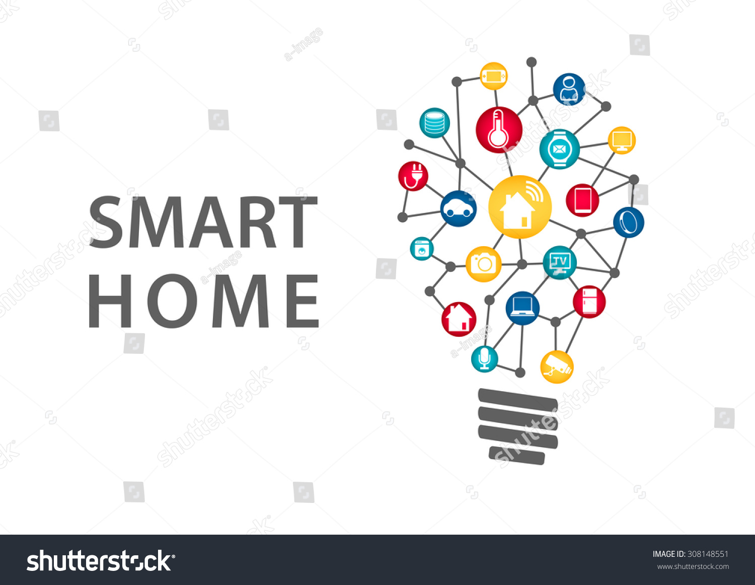 smart home automation logo images galleries with a bite. Black Bedroom Furniture Sets. Home Design Ideas