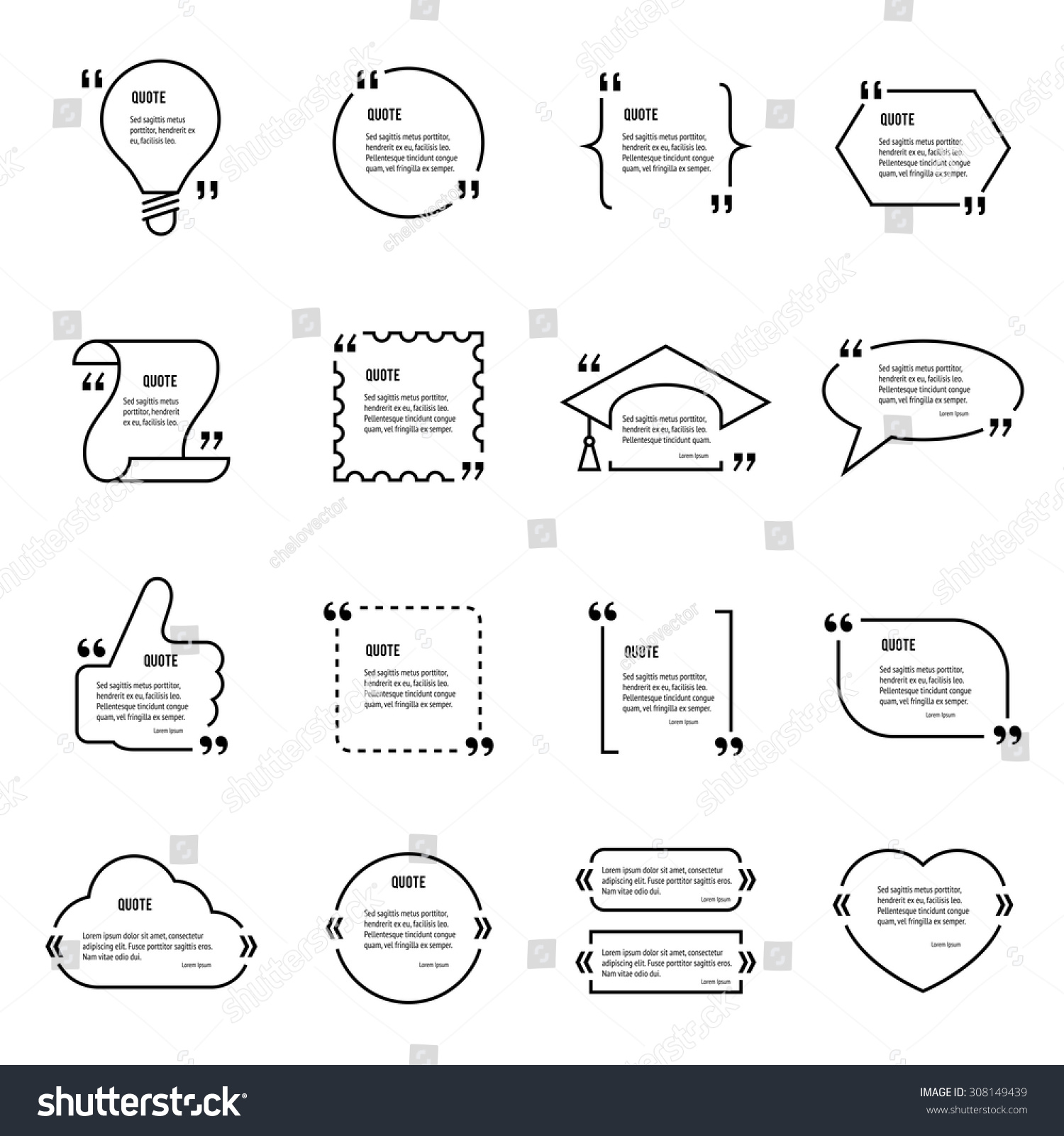 quote blank vector template set text bubble empty quote forms empty quote forms business card template preview save to a lightbox