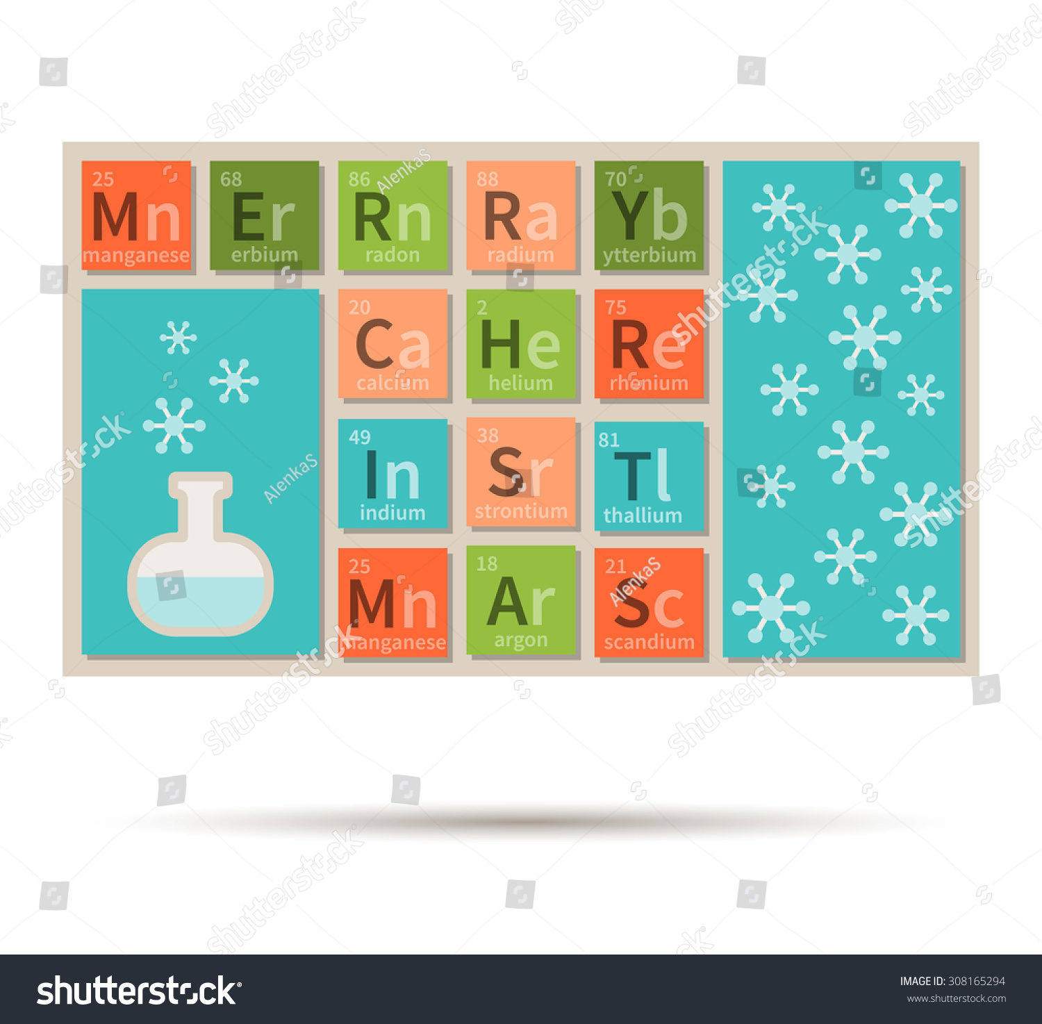 Merry christmas chemistry theme periodic table stock vector merry christmas chemistry theme with periodic table elements gamestrikefo Choice Image