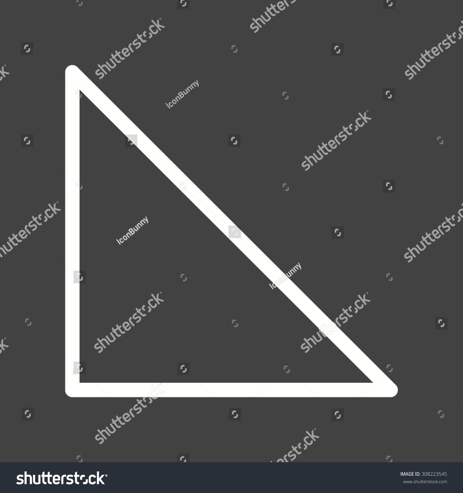 Right Angle Shapes : Triangle right angle icon vector image stock