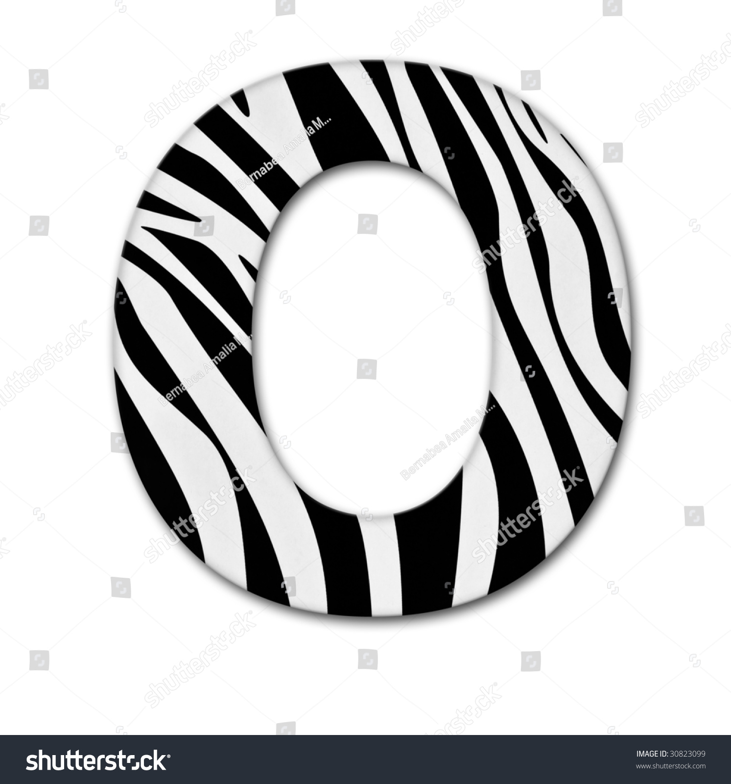 Stock Photo Letter From The Alphabet Made Of Animal Print It Has Clipping Path Downloading Free Only