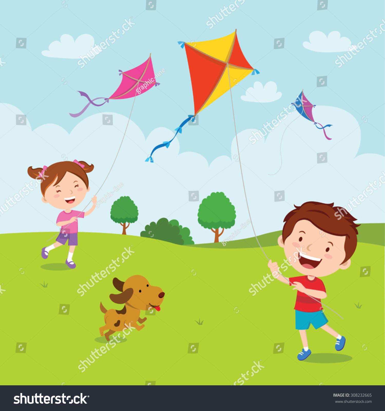 flying kite illustration - photo #45