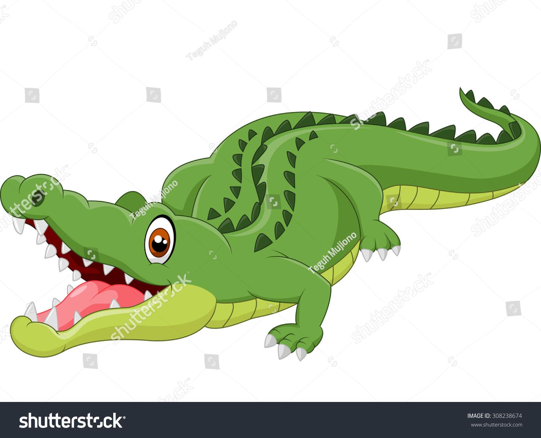Cartoon Crocodile Stock Vector 308238674 - Shutterstock - photo#33