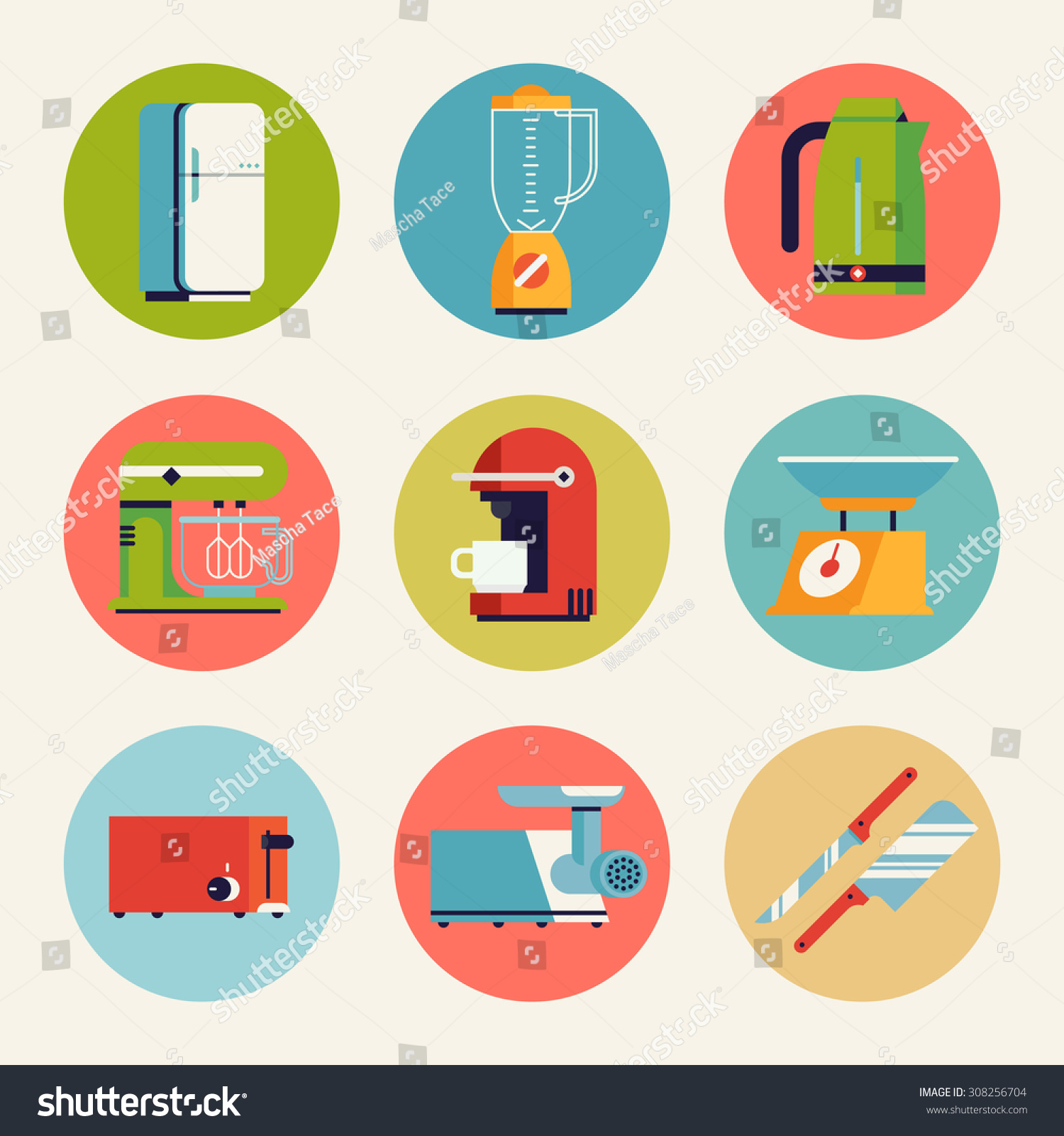 Set Cool Vector Home Kitchen Appliances Stock Vector Royalty Free 308256704,700 Square Feet House Plans