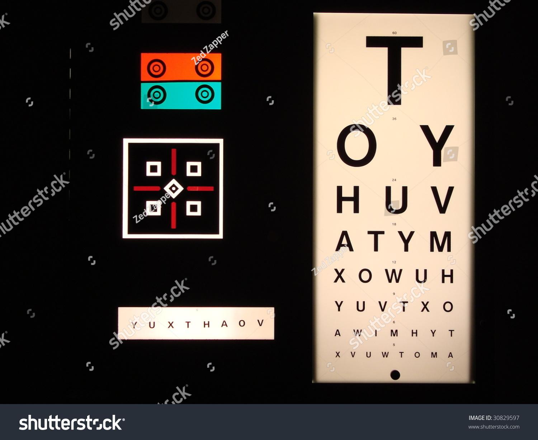 Sight Test Chart Eye Exam Chart Stock Photo Edit Now 30829597