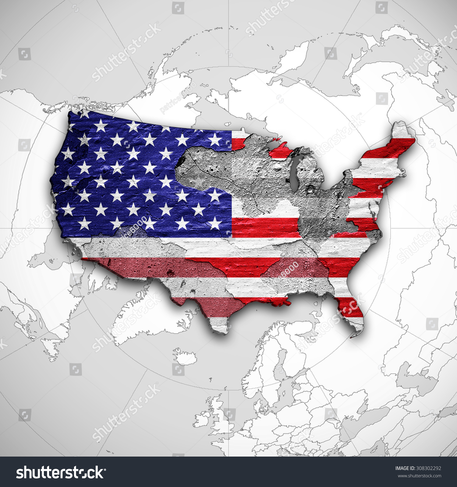 America flag map wall world map stock illustration 308302292 america flag map wall world map stock illustration 308302292 shutterstock gumiabroncs Images