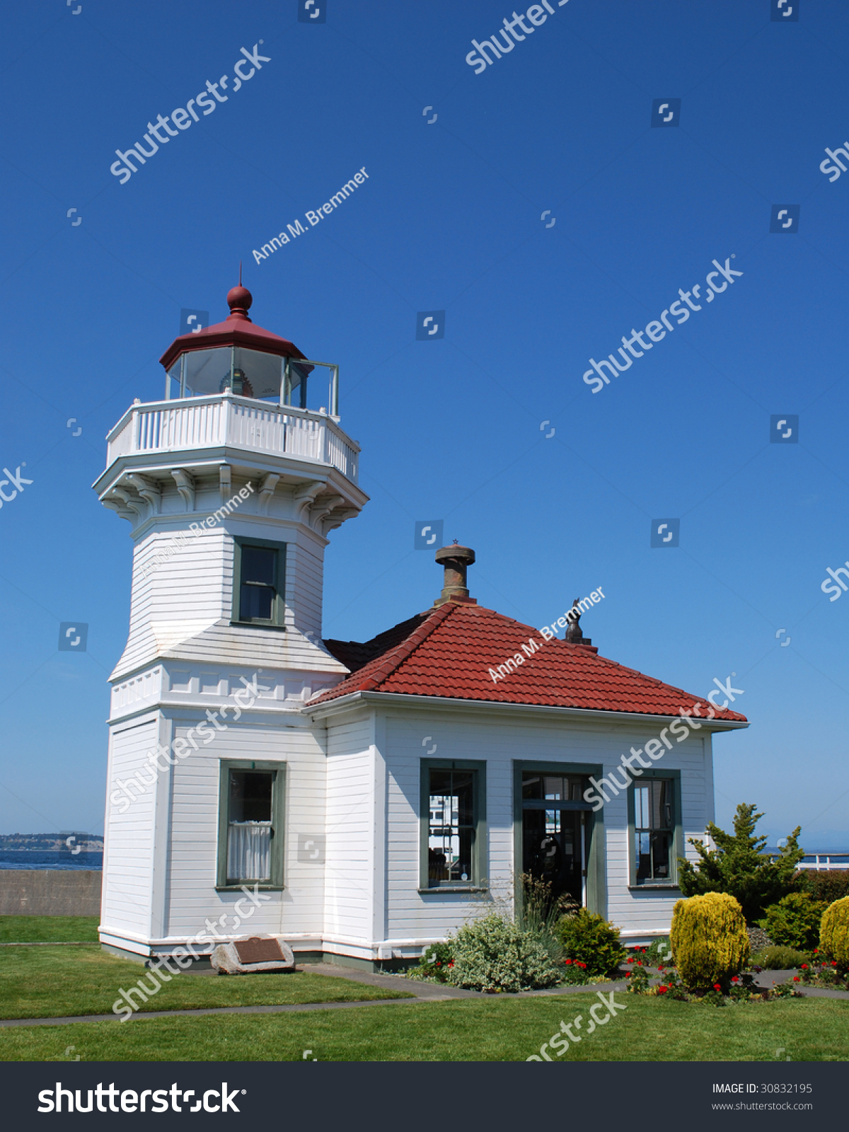 mukilteo lighthouse built 1906 site where stock photo edit now