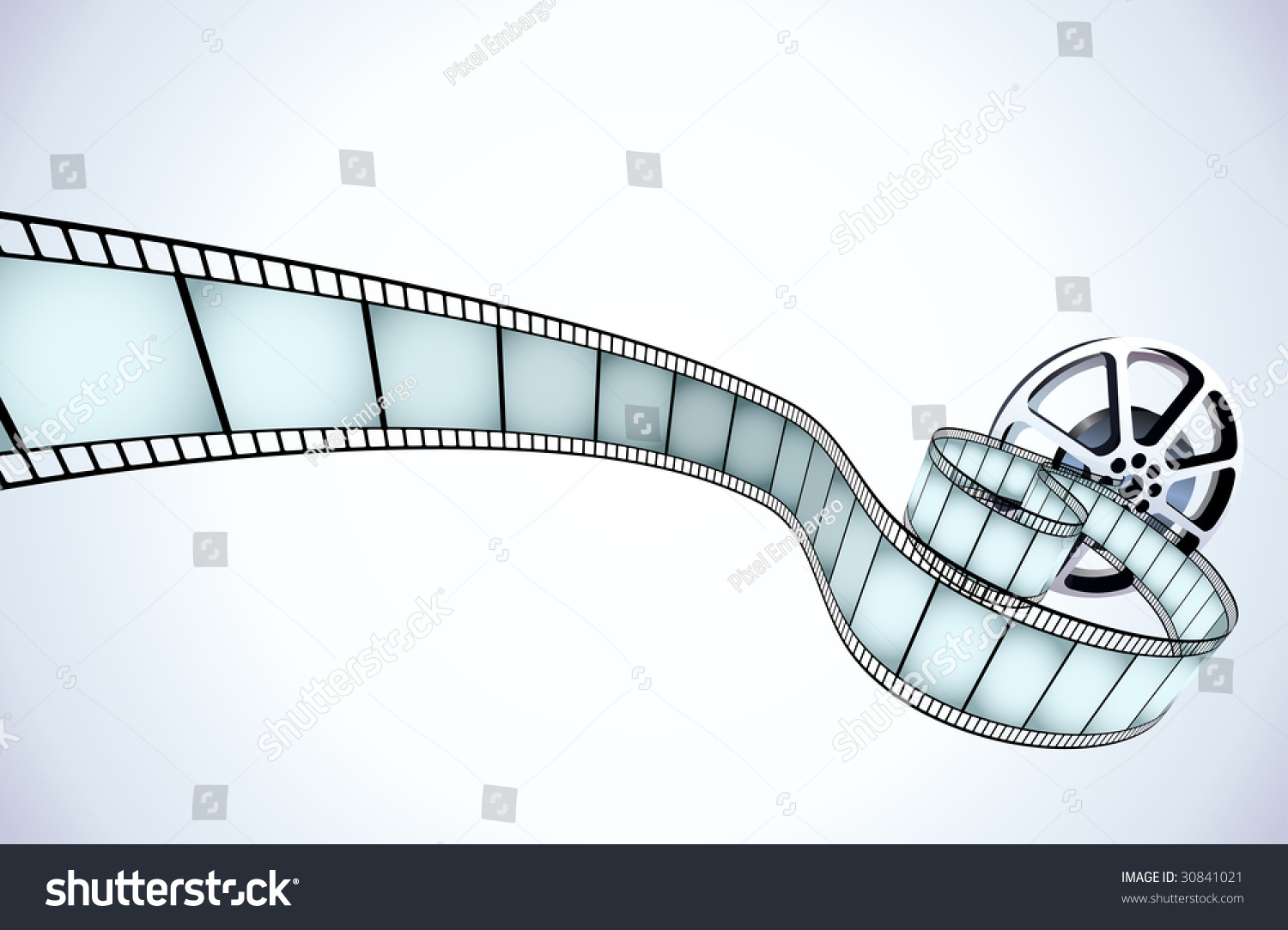 Vector Illustrator Movie Reel Strip Exposed Stock Photo (Photo ...