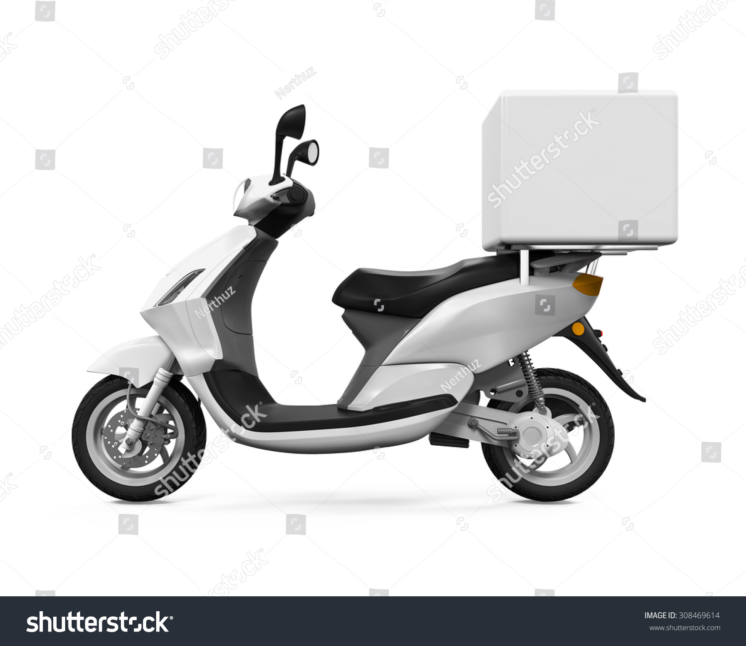 motorcycle delivery box stock illustration 308469614 shutterstock. Black Bedroom Furniture Sets. Home Design Ideas