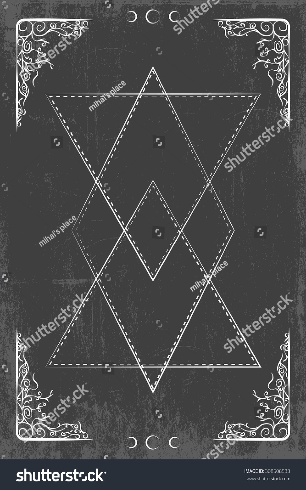 Magic Occult Background Illustration Vector Format Stock