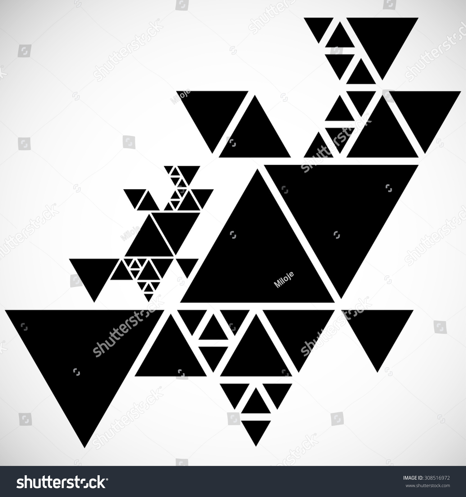 Vector Hipster Triangle Background Pattern Abstract Modern Geometrical Design Template