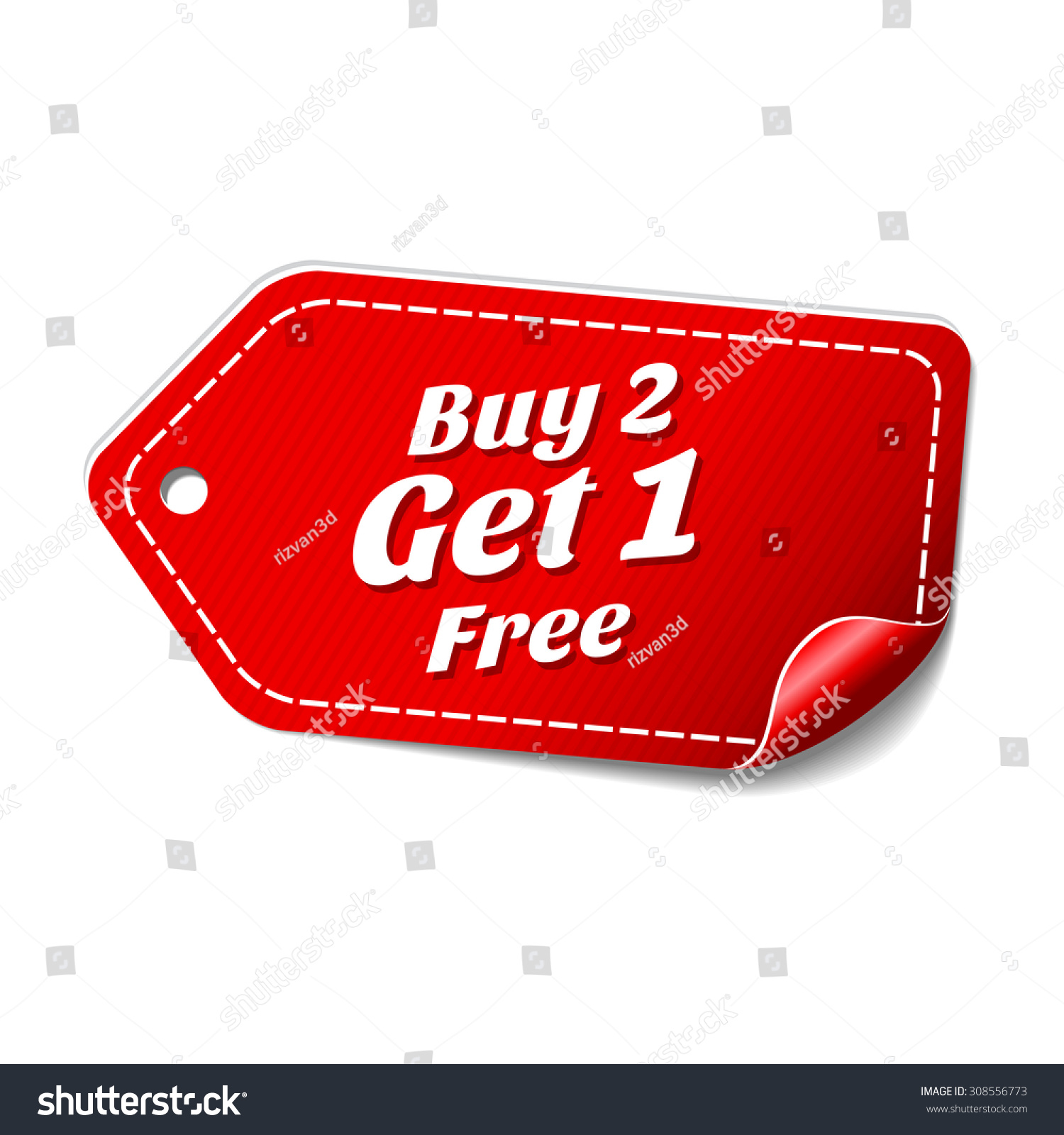 Buy 2 Get 1 Free Red Vector Icon Download Image How To Buy Stocks For