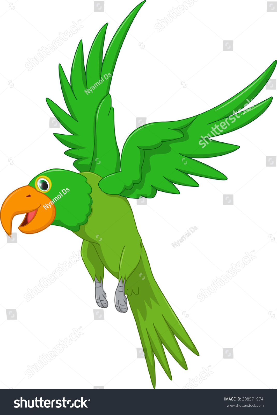 Cartoon parrot flying - photo#13
