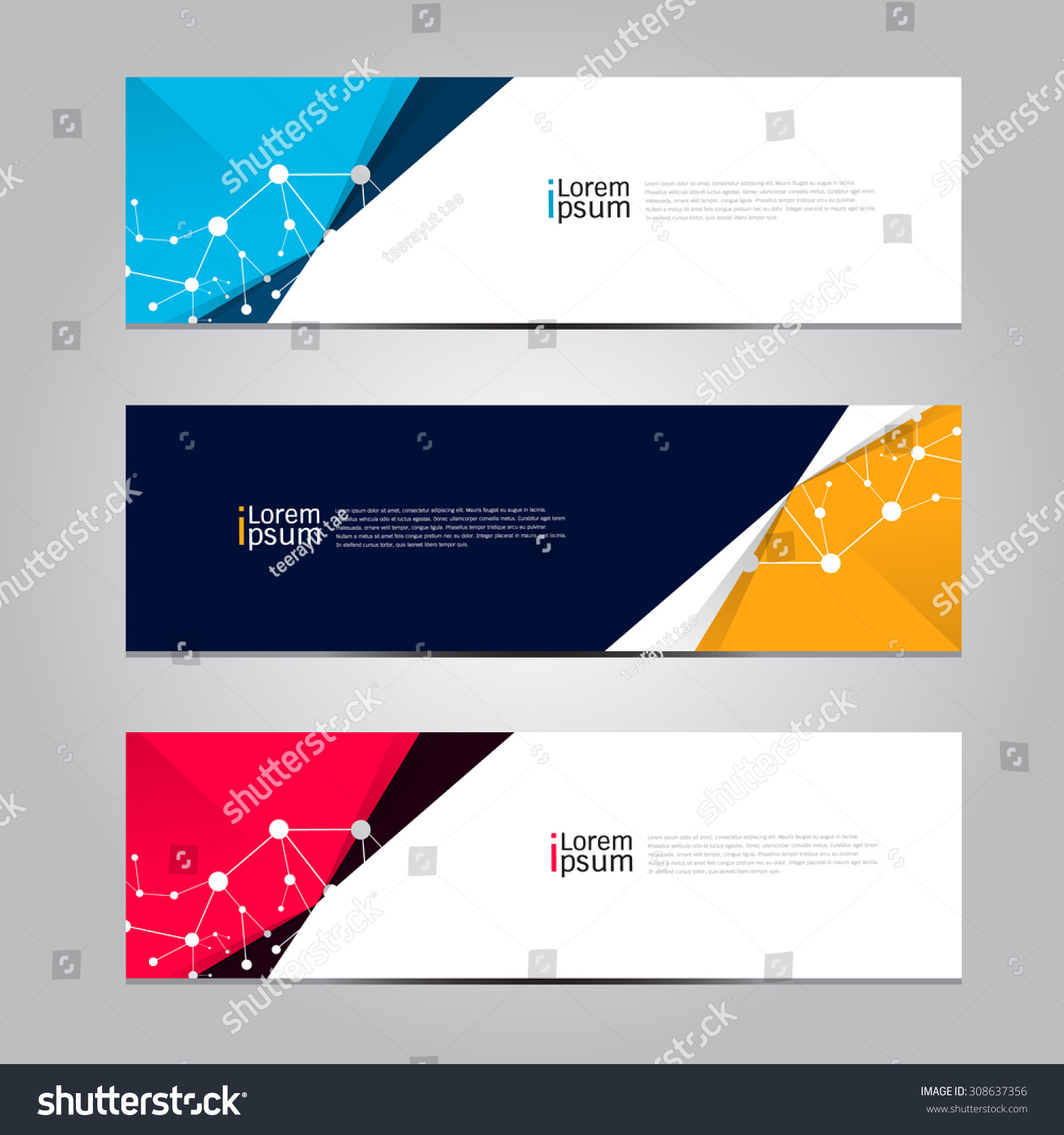 Vector design Banner background. illustration EPS10 #308637356