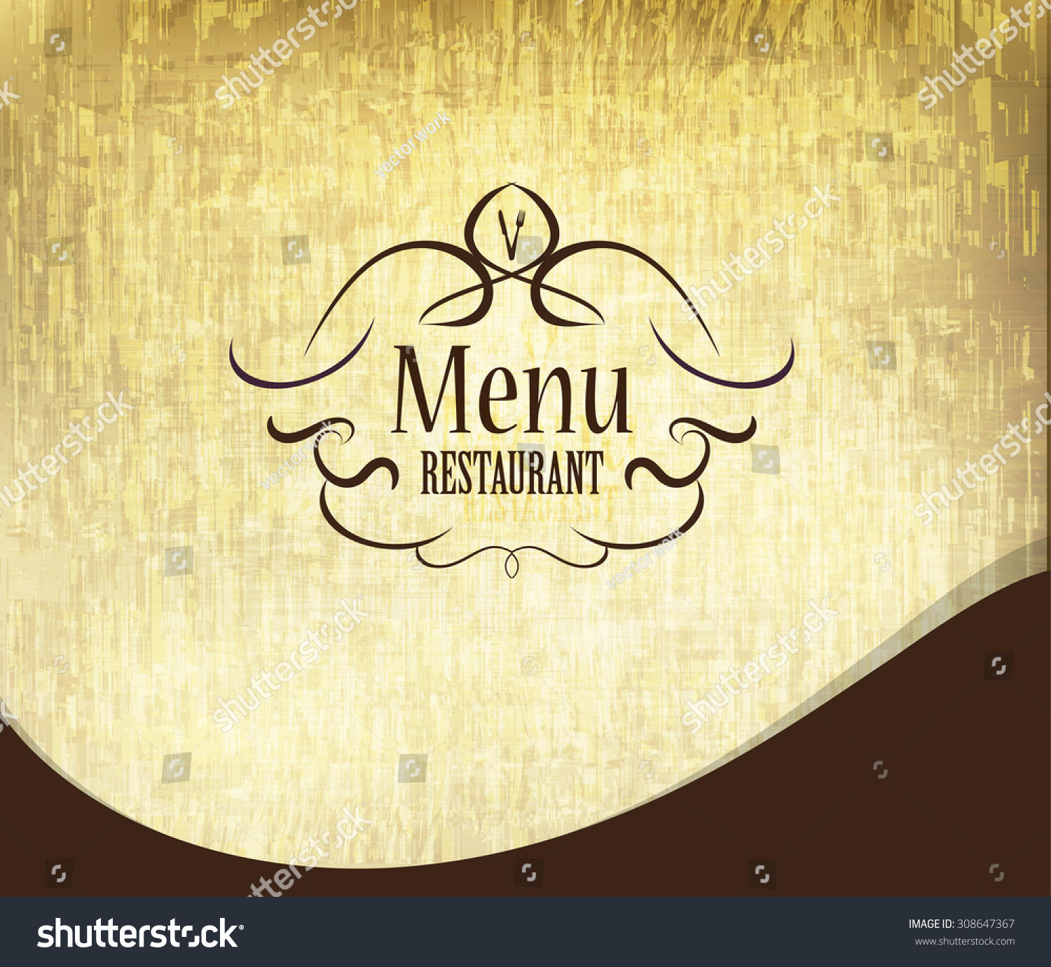 retro restaurant menu first page design stock vector 308647367 retro restaurant menu first page design grunge style