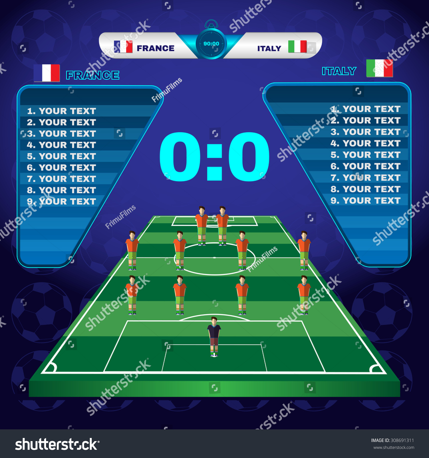 a soccer match A match is played by two teams, with each allowed no more than 11 players on the field at any one time, one of whom is a goalkeeper a match may not start if either team has fewer than seven players in national 'a' matches, a coach may use a maximum of six substitutes in other matches, such as .