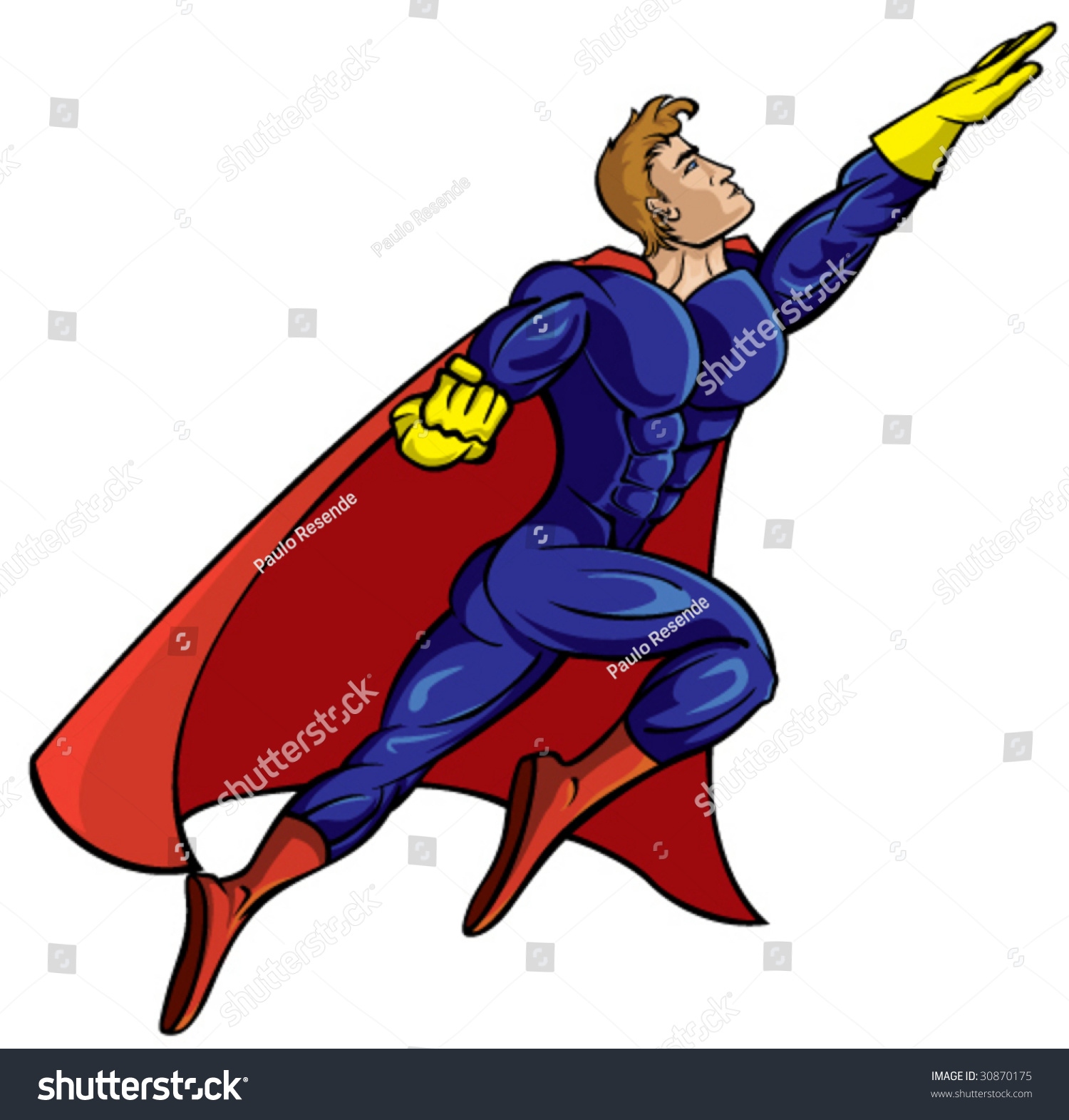 Super Hero Flying - Vector Illustration - 30870175 : Shutterstock Superhero Flying Vector