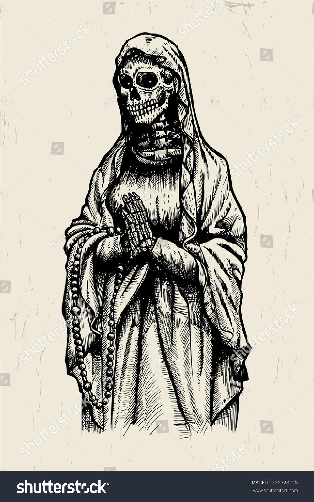 cc92f0aa0 Praying Skeleton Stock Vector (Royalty Free) 308723246