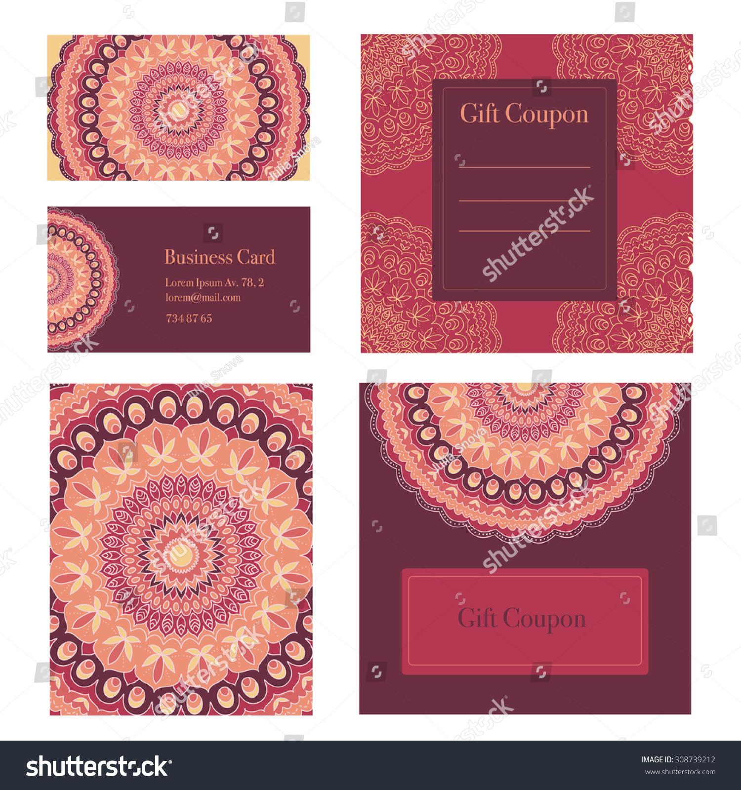 Mandala business set vector background business stock vector mandala business set vector background business cards invitation sale coupon gift magicingreecefo Images