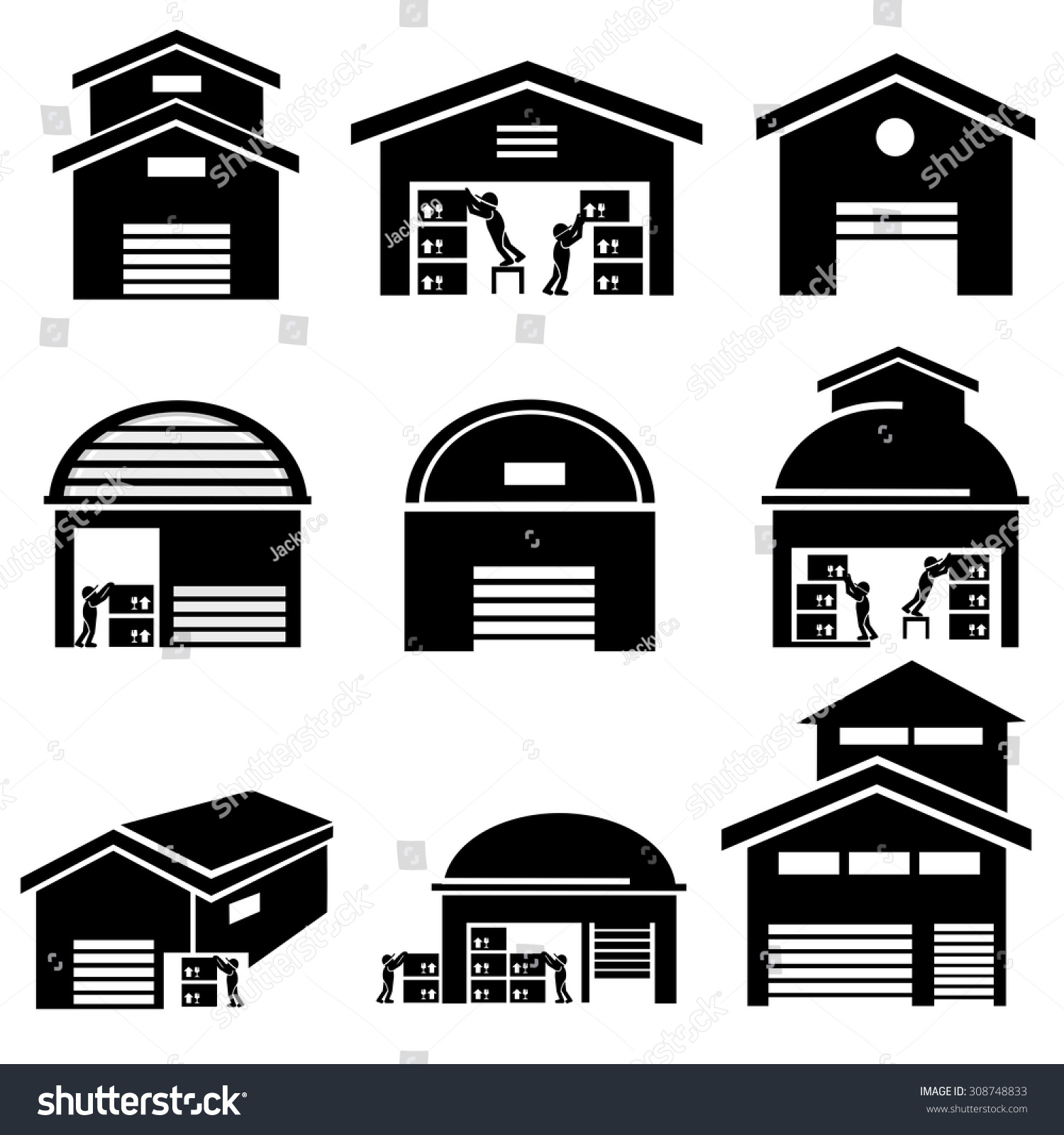 Warehouse Icons Vector...